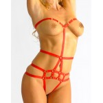 Cross Strap Super Sexy Red Play Suit