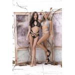 8302 Two Piece Set Lingerie Set Color Black