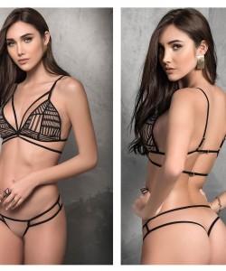 8318 Two Piece Lingerie Set Color Nude-Black