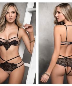 8320 Two Piece Lingerie Set Color Nude-Black