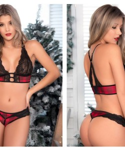 8469 Two Piece Set Color Black-Red