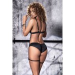 8511 Two Piece Garter Set Color Black