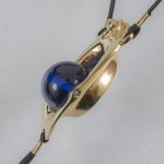 Clitoral Exciter Blue Orb  G-String